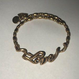 Women's Alex & Ani Love Charm Bracelet